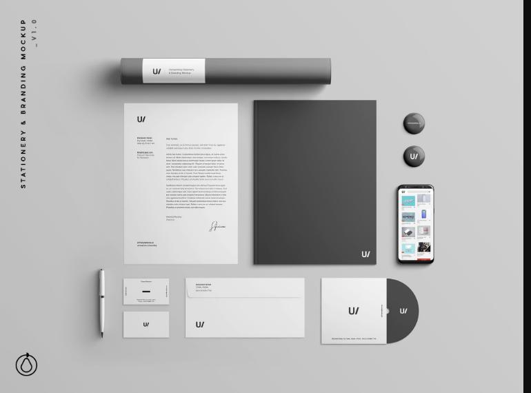 Stationary Branding Identity Mockup PSD Free