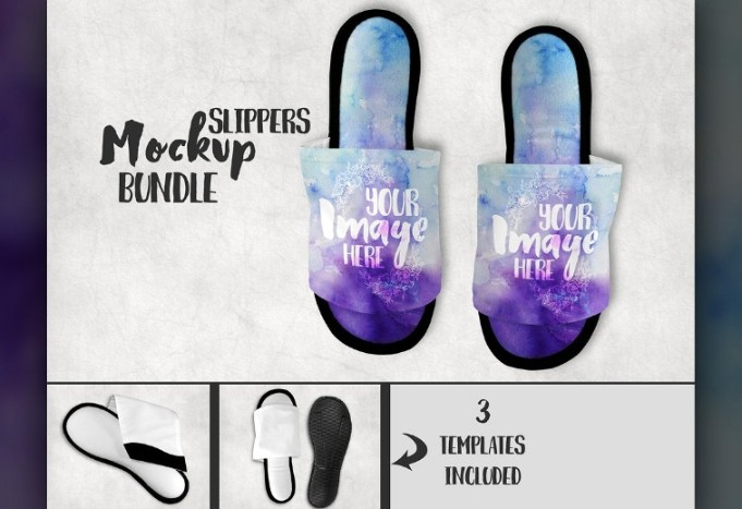 Sublimation Slipper Mockup PSD