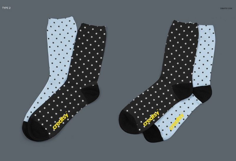 Sublimation Socks Mockup PSD