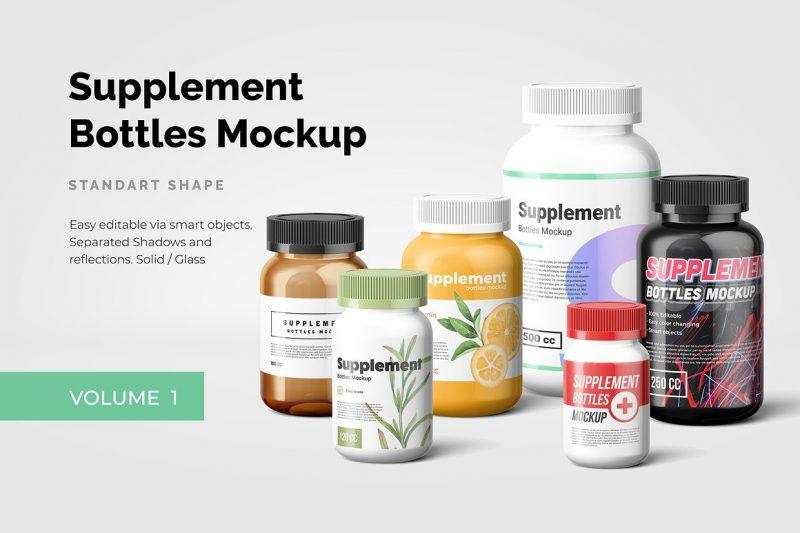 Supplements Bottle Mockup Pack