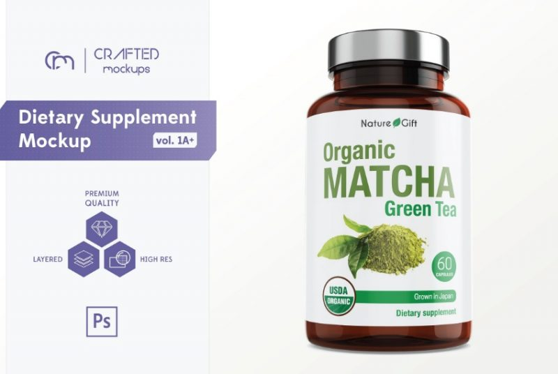 Supplements Branding Mockup PSD