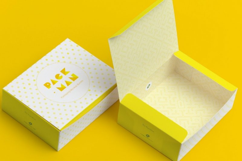 Sweet Box Packaging Mockup