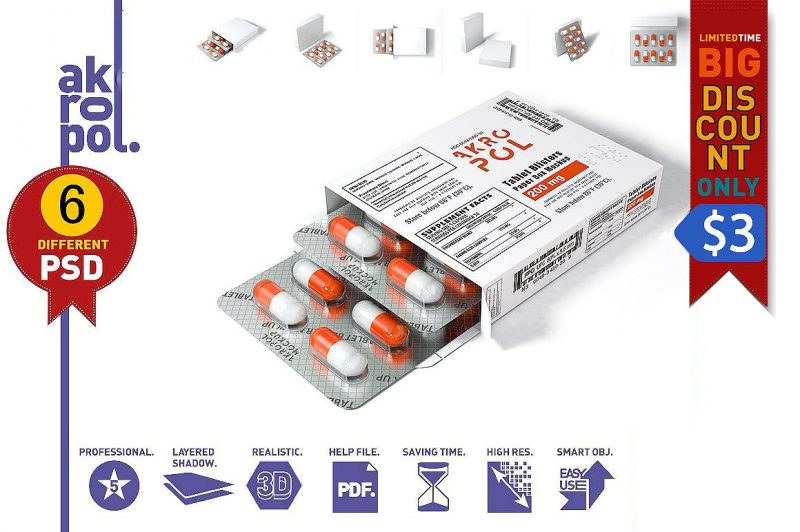 Tablets Box Mockup PSD