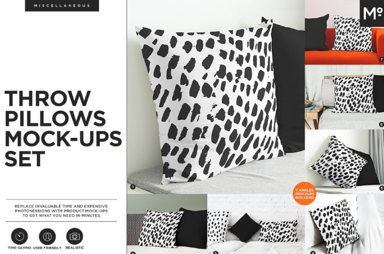 Throw Pillow Mockup Set