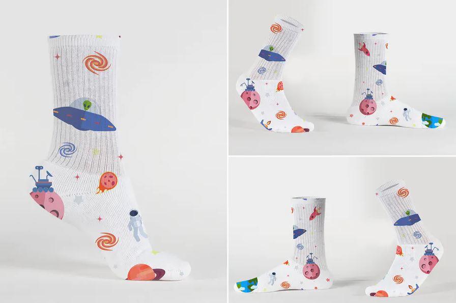 Unisex Socks Mockup