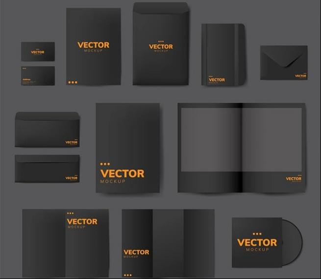 Vector Stationary Mockups