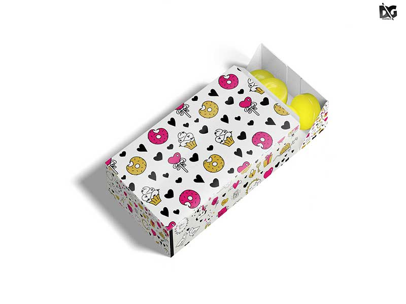 Wafer Box Packaging Mockup PSD