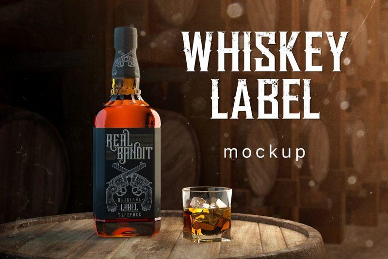 Whisky Label Mockup PSD