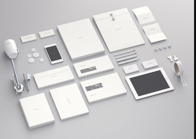 White Stationary Design Mockup PSD