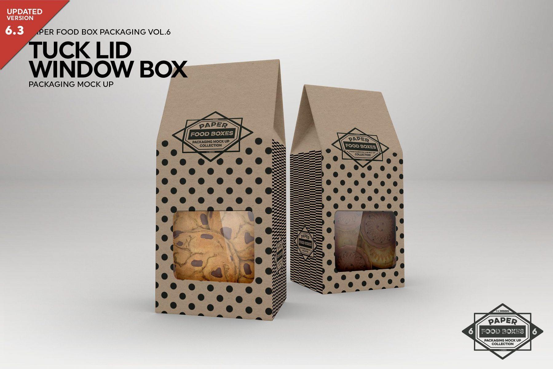 Window Box Food Packaging Mockup PSD