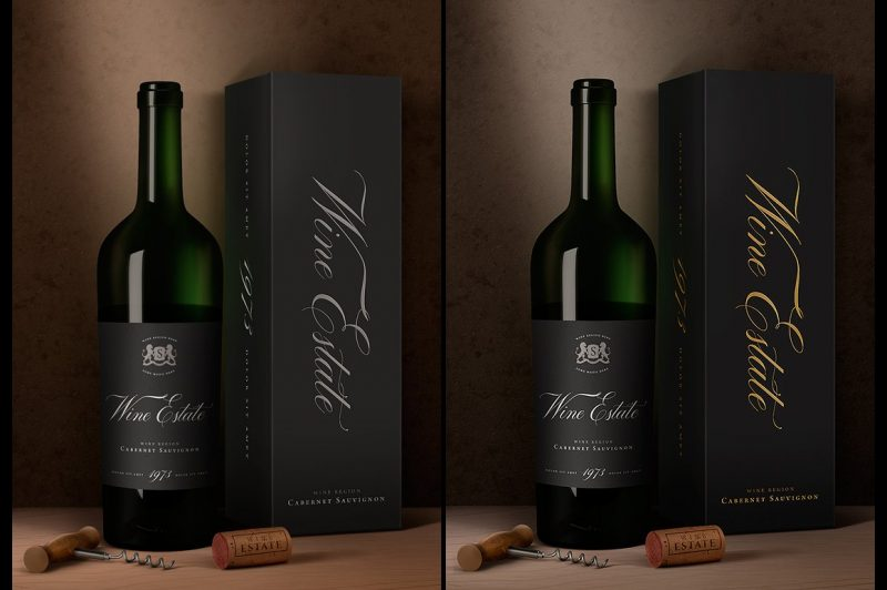 Wine Packaging Mockup PSD