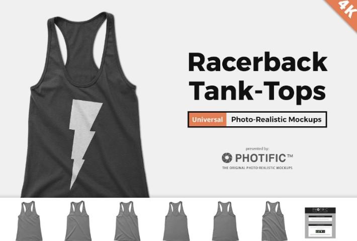 Women Racerback Tank Top Mockup
