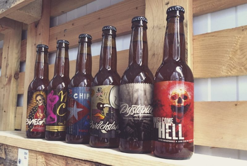 Workshop Beer Bottles Mockup