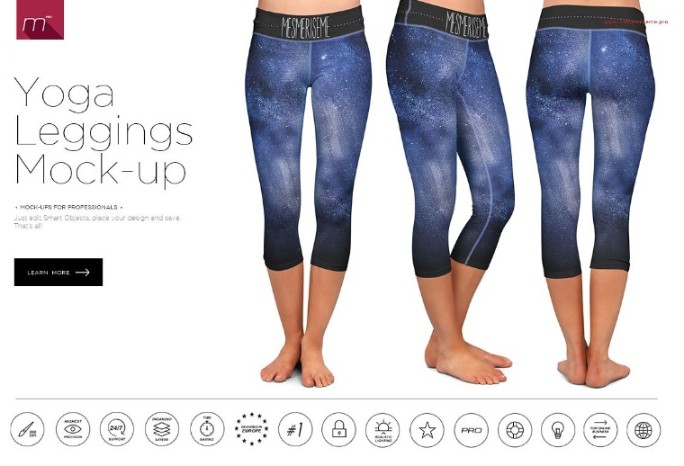 Yoga Leggings Mockup PSD