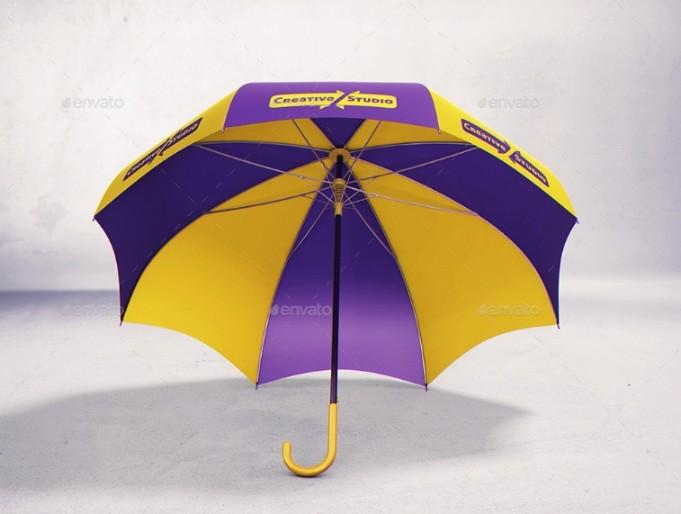 Umbrella Advert Mockup PSD