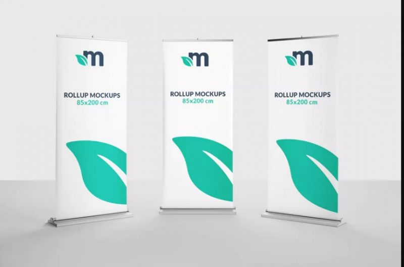 10 Roll Up Banners Mockup