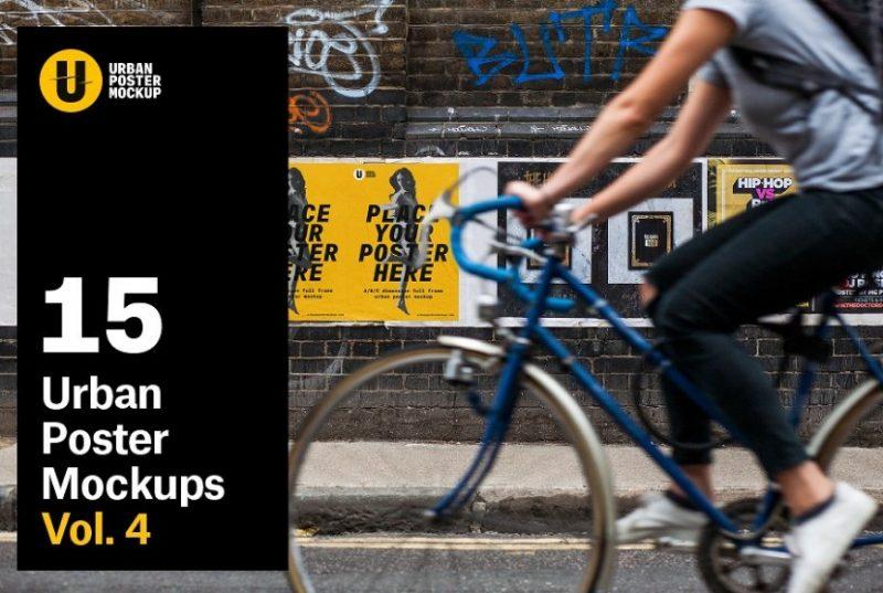 15 Urban Poster Mockups Bundle