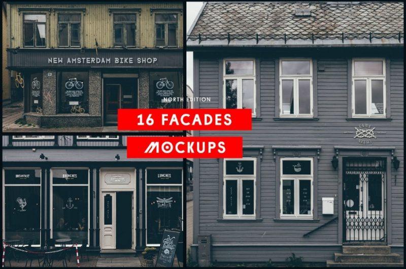 16 Facades Mockup PSD