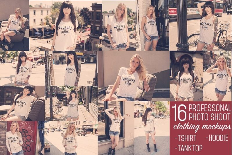 16 Women T Shirt Mockuo PSD