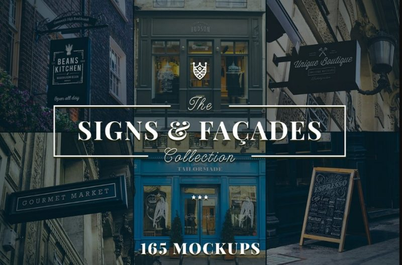 165 Signs and Facade Mockups