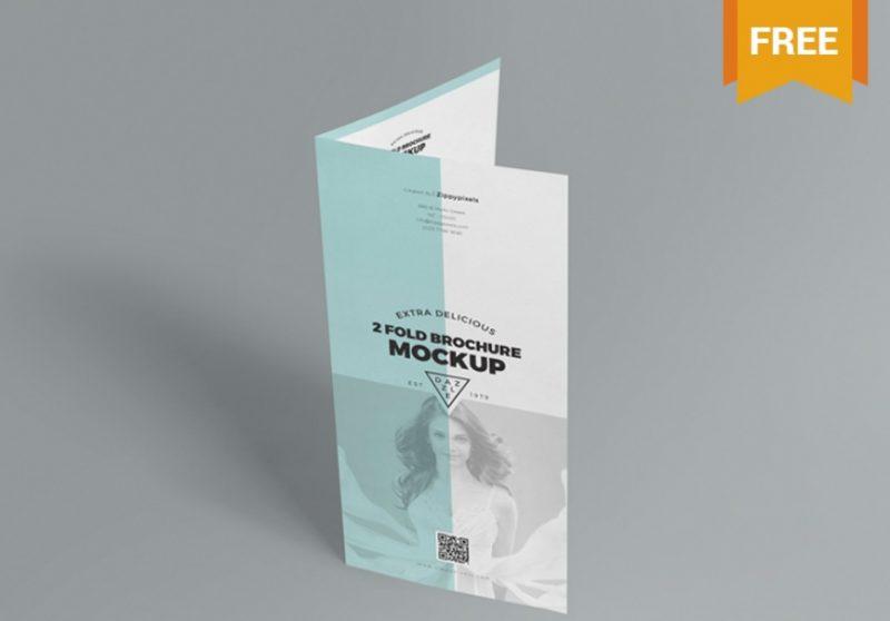 2 Fold Leaflet Mockup PSD