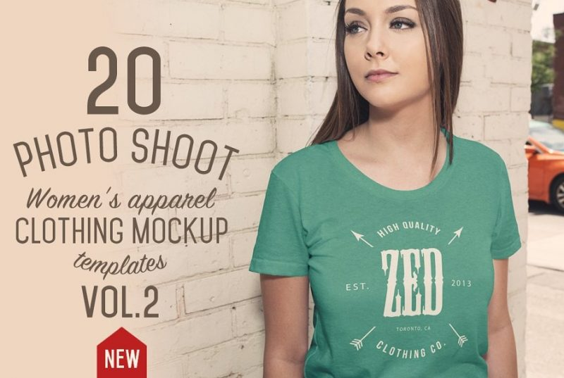 20 Apparel Mockup PSD for Branding