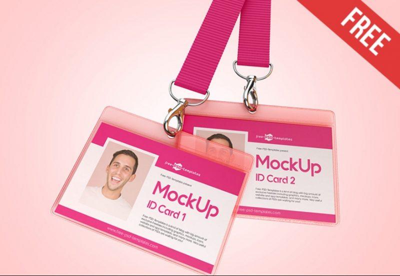 3 Free ID Cards Mockup PSD