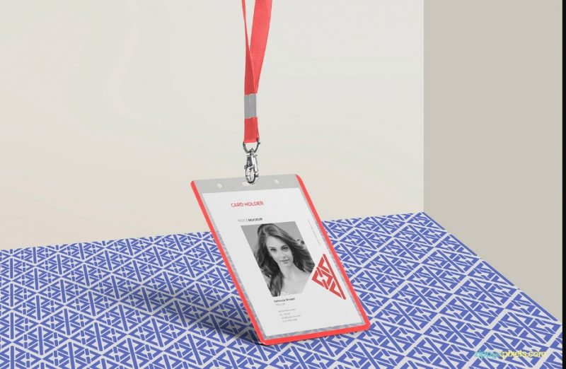3D ID Card Template and Mockup