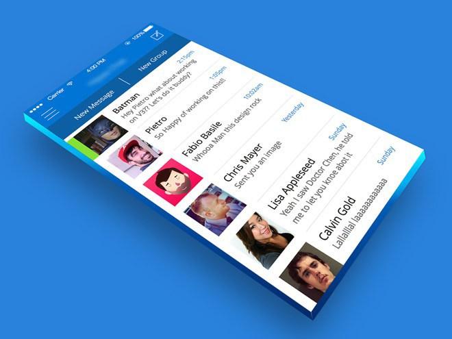 3D Mobile App Mockup PSD