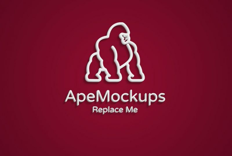Text Logo Mockup PSD