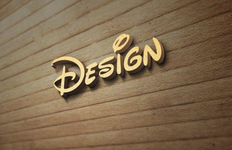 3D Wall Logo Mockup PSD Free