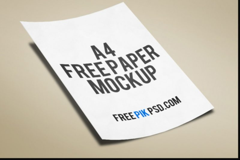 A4 Paper Free Download PSD