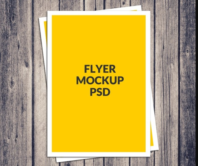 A4 Poster Flyer Mockup PSD