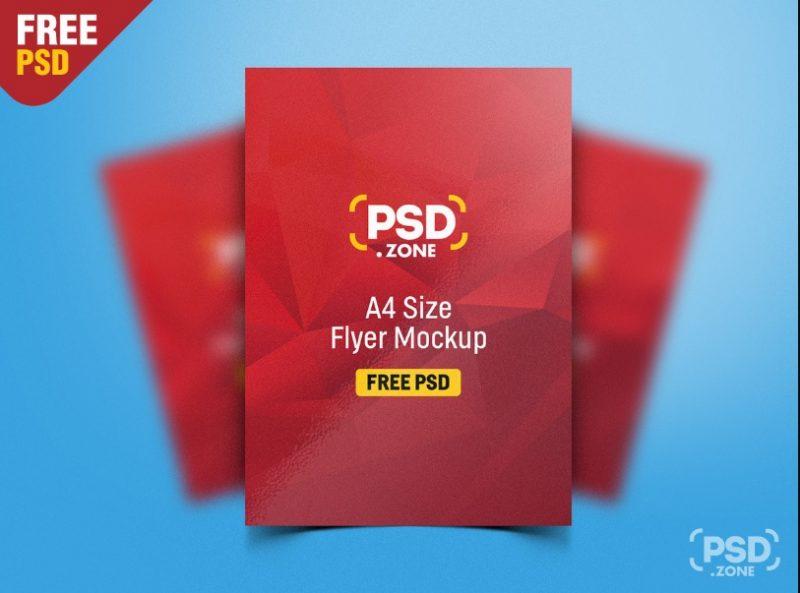 A4 Size Poster Mockup PSD