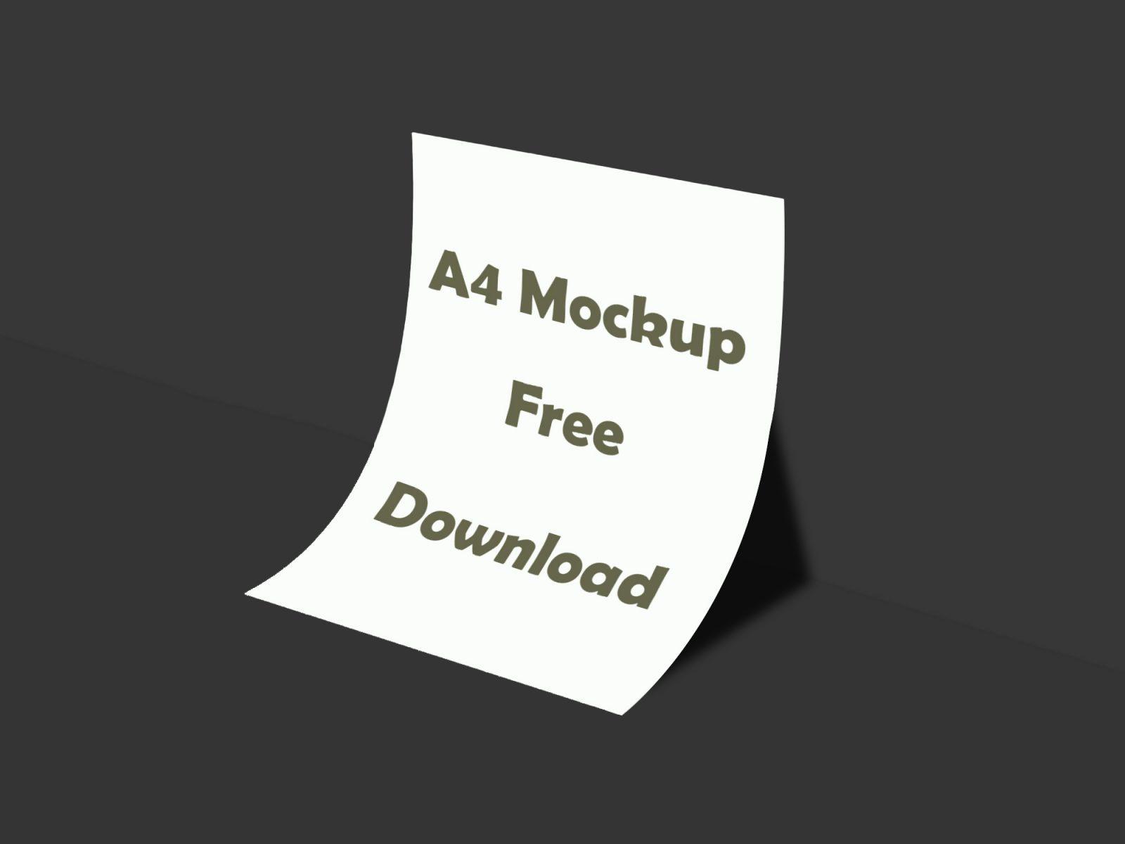 Realistic A4 Paper Mockup