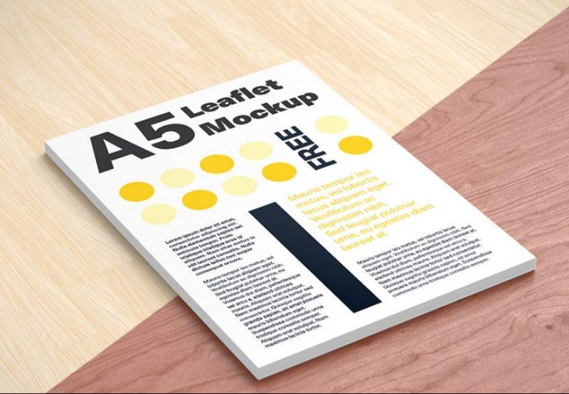 A5 Leaflet Mockup Free
