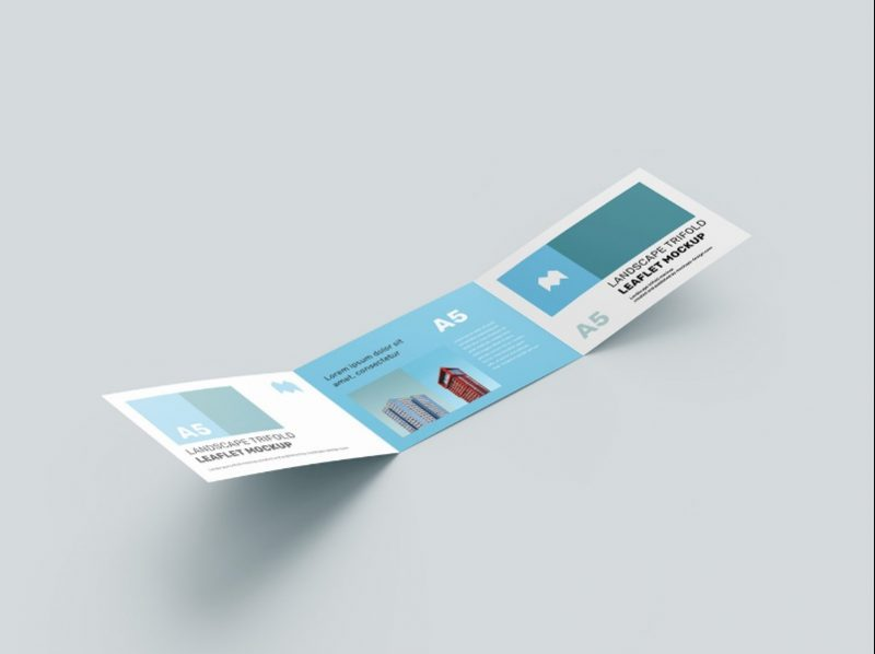 A5 Leaflet Mockup PSD Free