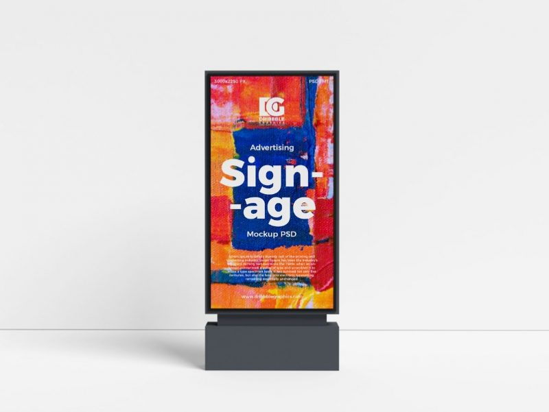 Advertising Signage Mockup PSD