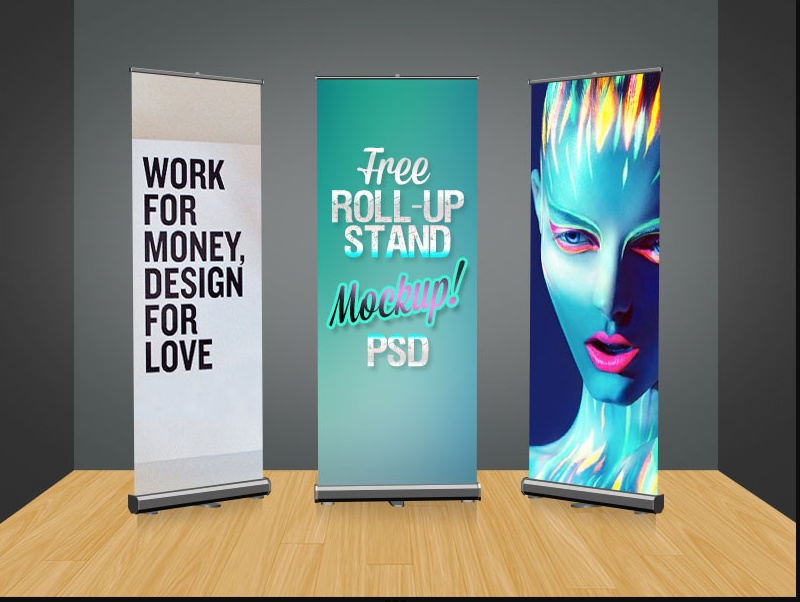 Advertisement Roll Up Banner Mockup