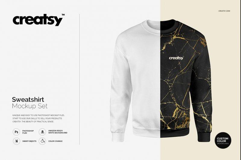 Amazon Ready Sweatshirt Mockup PSD