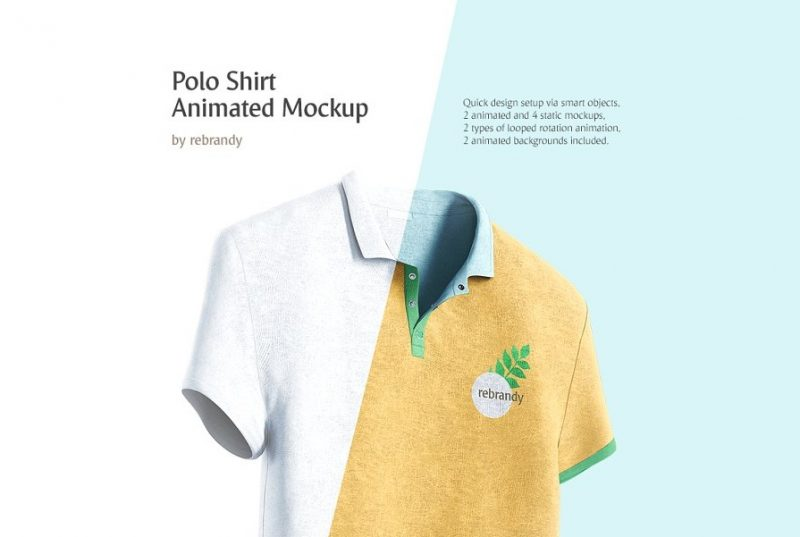 Animated Polo Shirt Mockup