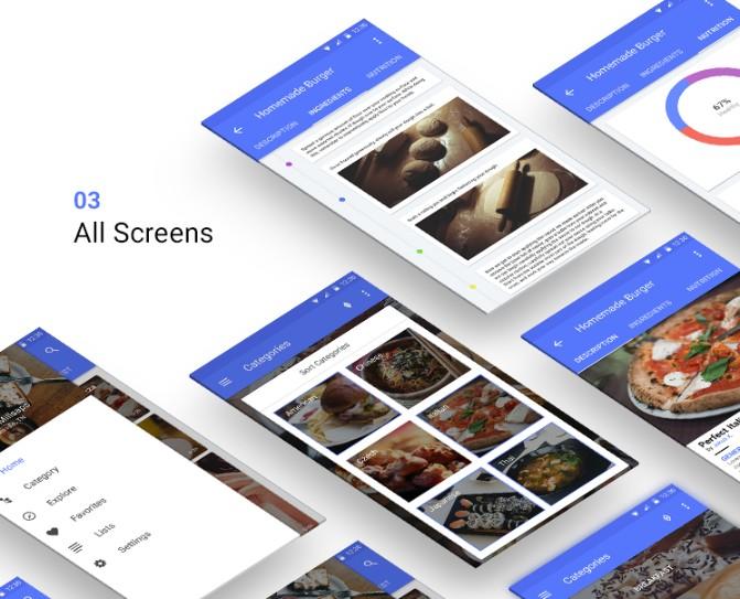 App All Screens Mockup PSD