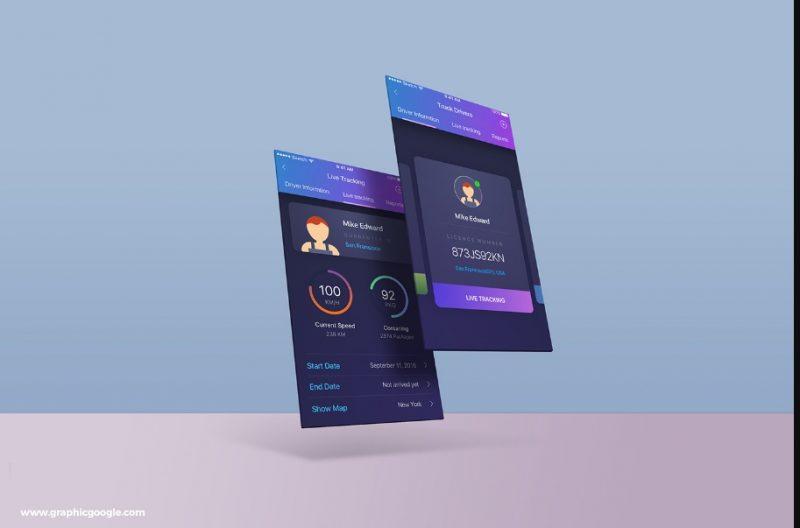 App Screens Mockup Template