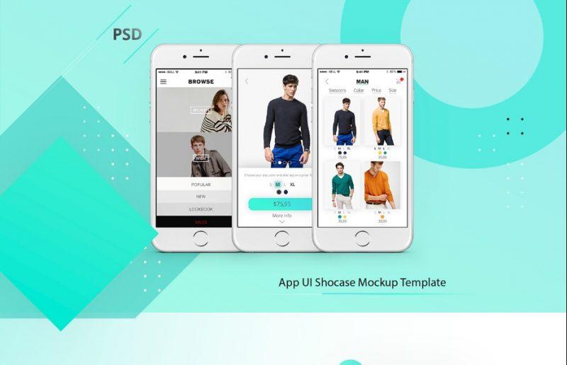 App Showcase Mockup PSD Download