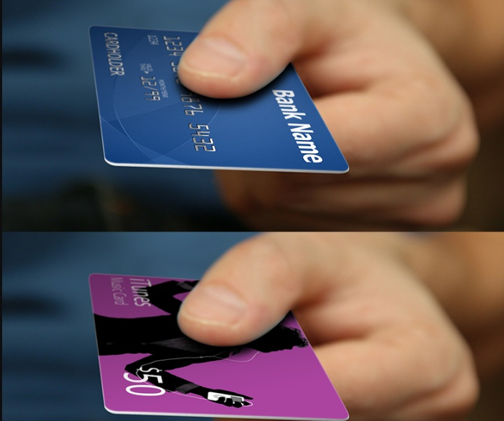 Bank Credit Cards Mockup PSD