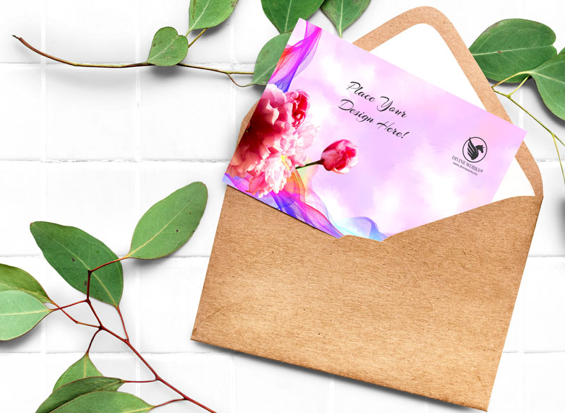 Beautiful Greeting Card Mockup PSD