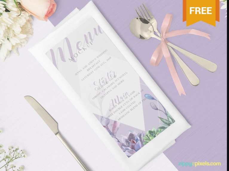 Beautiful Restaurant Menu Mockup