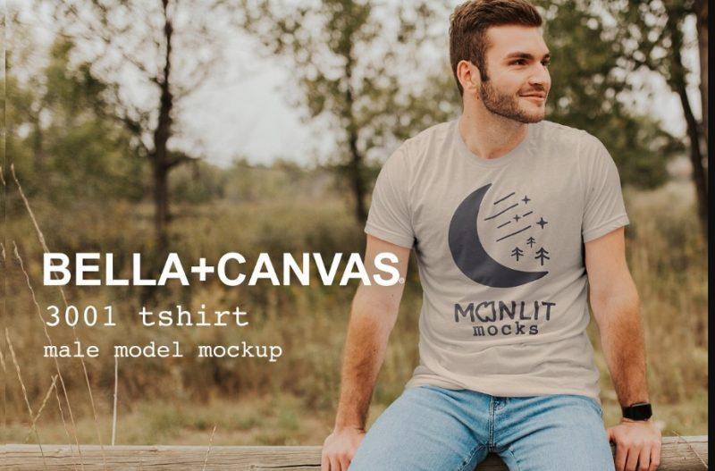 Bella Canvas Male T Shirt Mockup