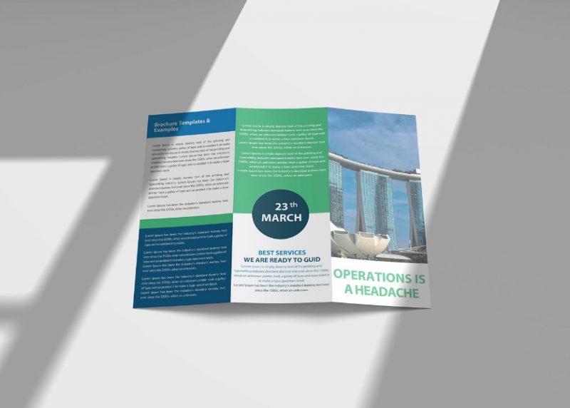 Best Tri Fold Brochure Mockup PSD