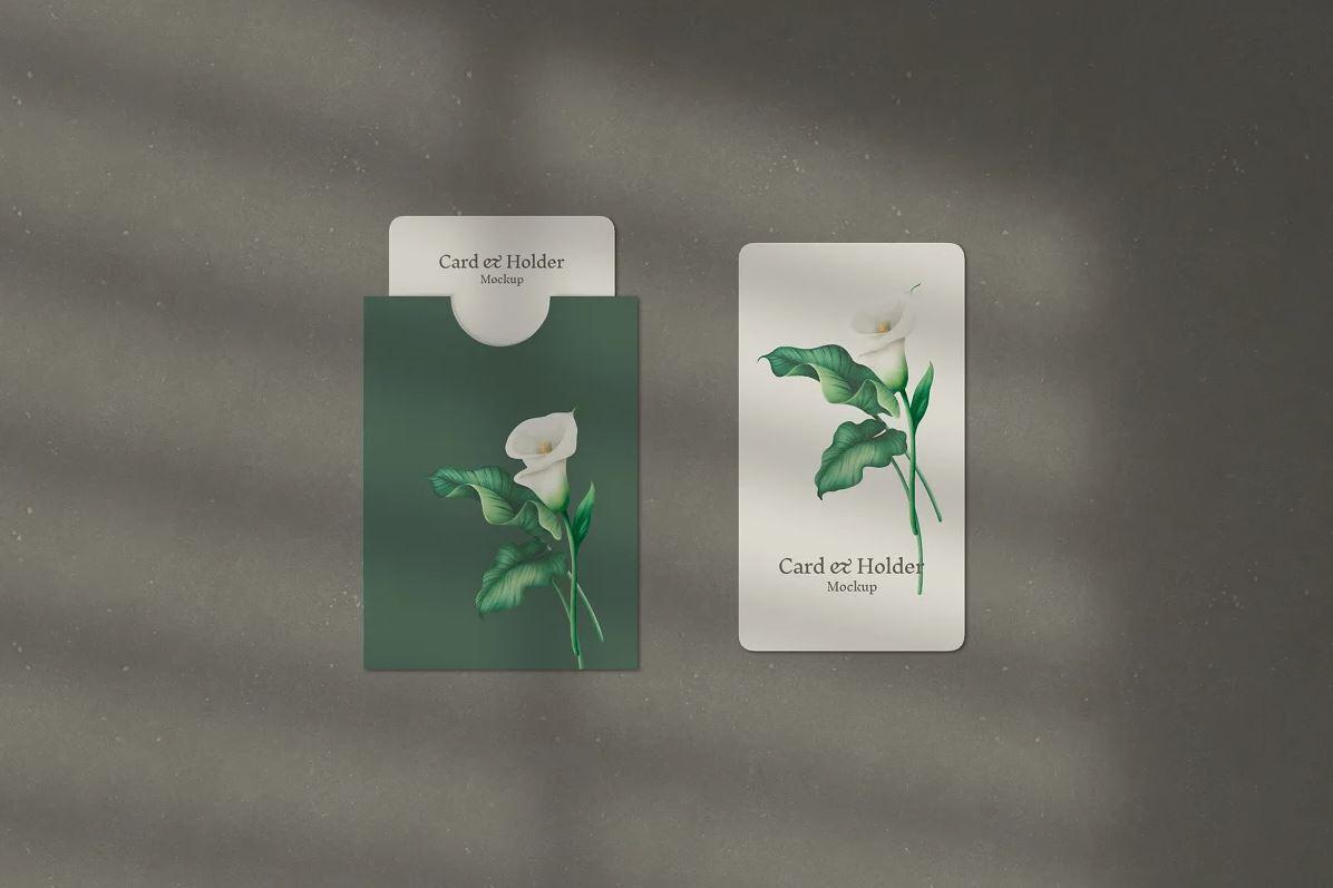 Card and Holder Mockup
